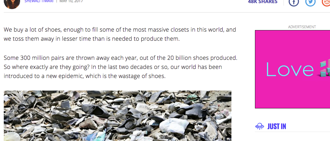 Article: This Company will Refurbish your Used Shoes, Recycle & Create New Pairs for Needy School Kids