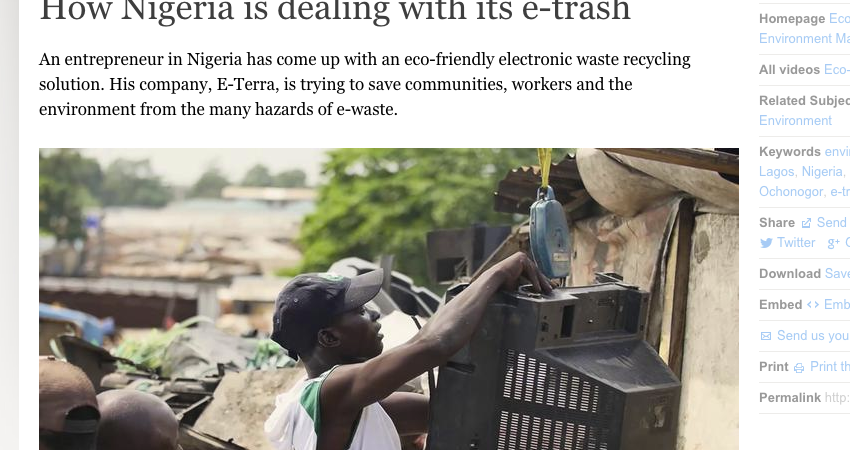 Video: How Nigeria is Dealing with its e-trash