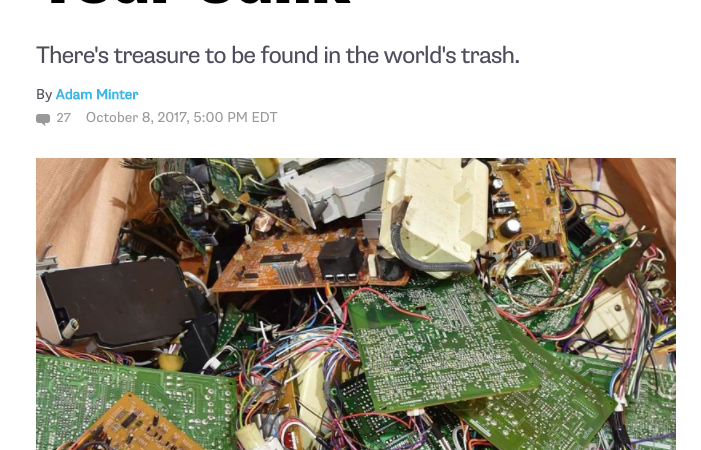 Article: Why Japan Wants Your Junk