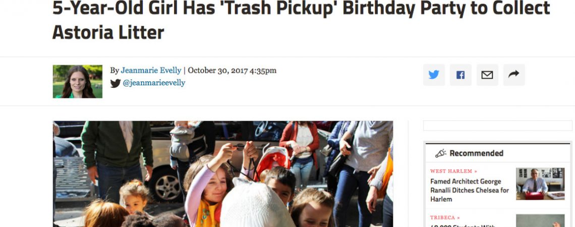 "Article: 5-year-old opts for ""trash pickup"" birthday party"