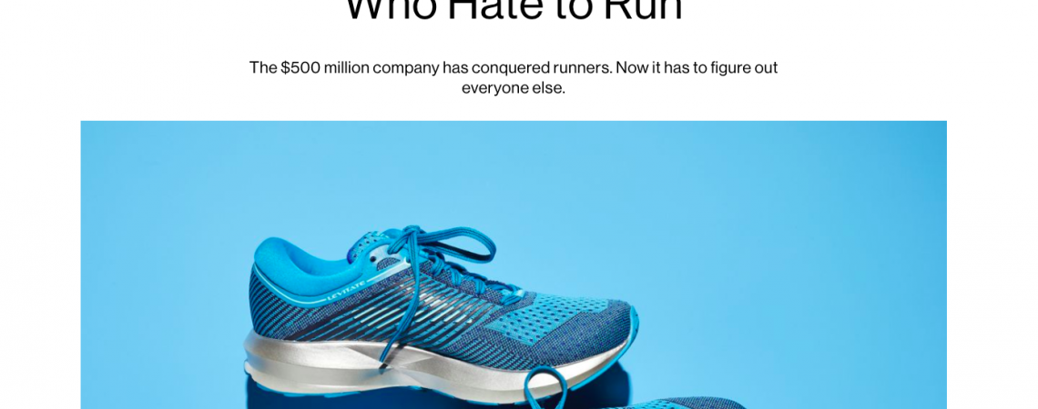 Article: Brooks Needs Runners Who Hate to Run